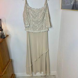 David's Bridal Off-the-Shoulder Formal Dress